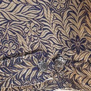 Tantrums Jackets & Coats - Tantrums Gold and Navy Blue Brocade Blazer Size XL